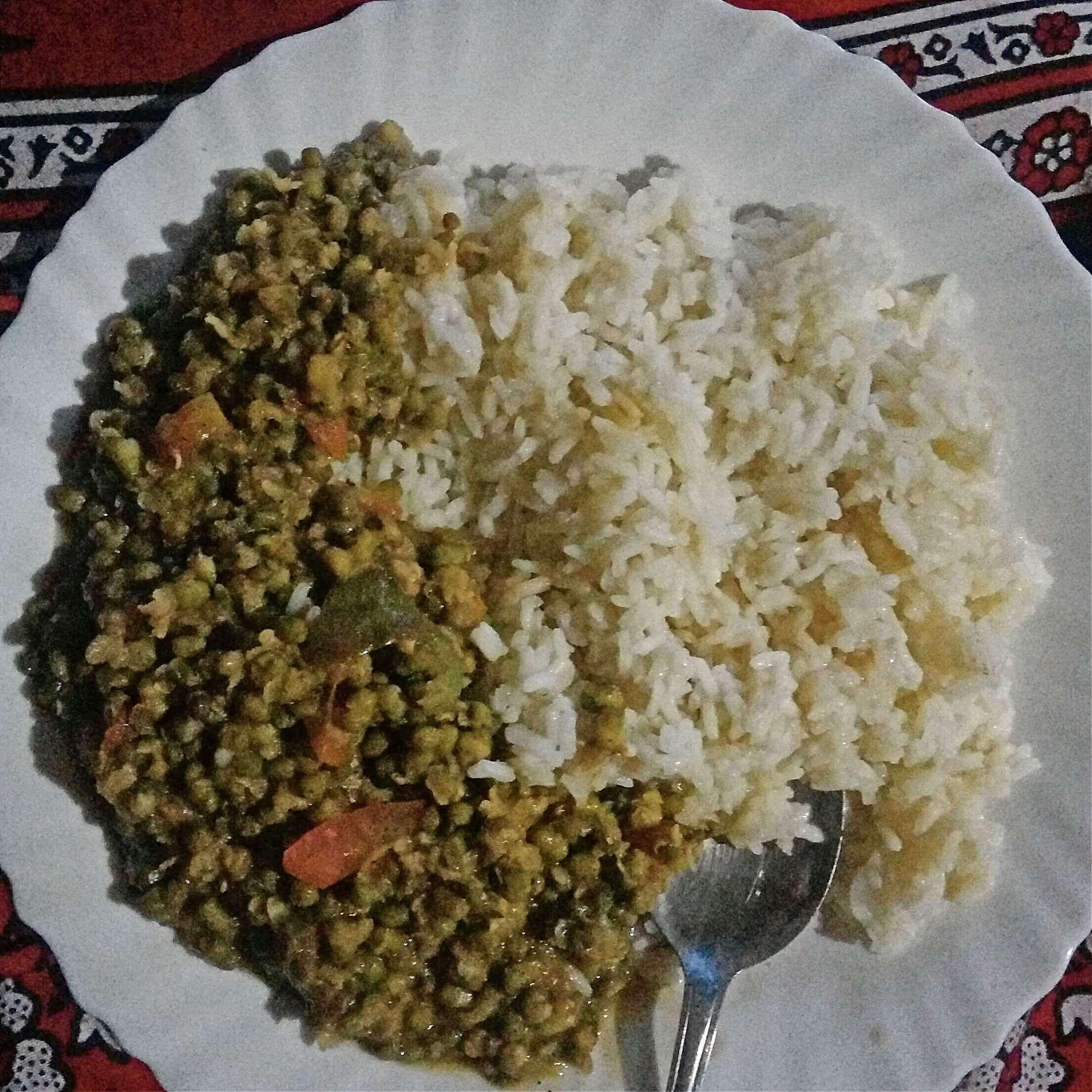 ryż z fasolą mung